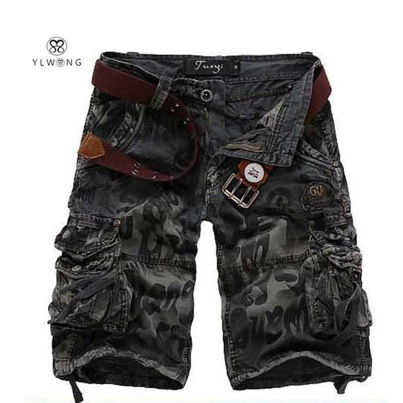 Summer Style Casual Mens Shorts Cargo Half Military Style Men Shorts Camouflage Men Big Size Short Pants 2017 New Arrival