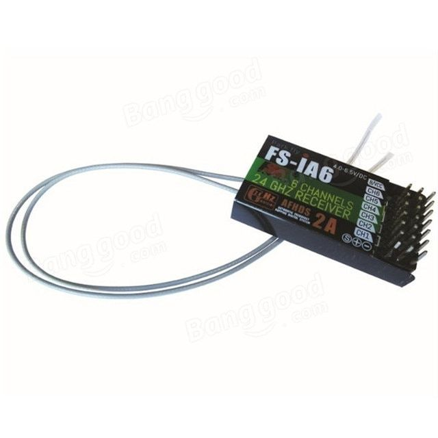 FlySky FS-iA6 2.4G 6CH AFHDS Receiver For FS-i10 FS-i6 GT2E GT2F GT2G Transmitter For RC Model