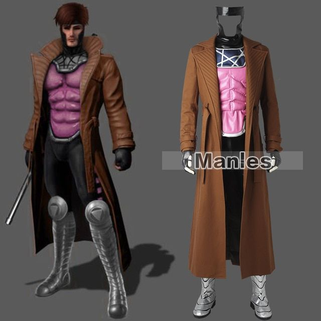 X-Men Gambit Costume Cosplay Marvel Comics Superhero Outfit Remy LeBeau Cosplay Costume Halloween Male Custom Made Adult Men