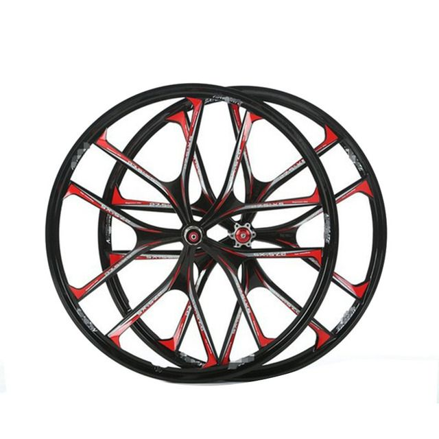 2PC Magnesium Bike Wheels MTB Ultralight  26 / 27.5inch Bicicletas Wheel 5 Spokes Bicycle Front Rear Mag Alloy Wheel