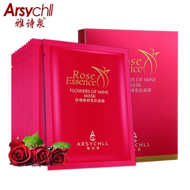 Rose Essence Face Mask Moisturizing Repair Whitening Anti-Aging Hydrating Nourishing Smooth Beauty Skin Face Care Masks BH524