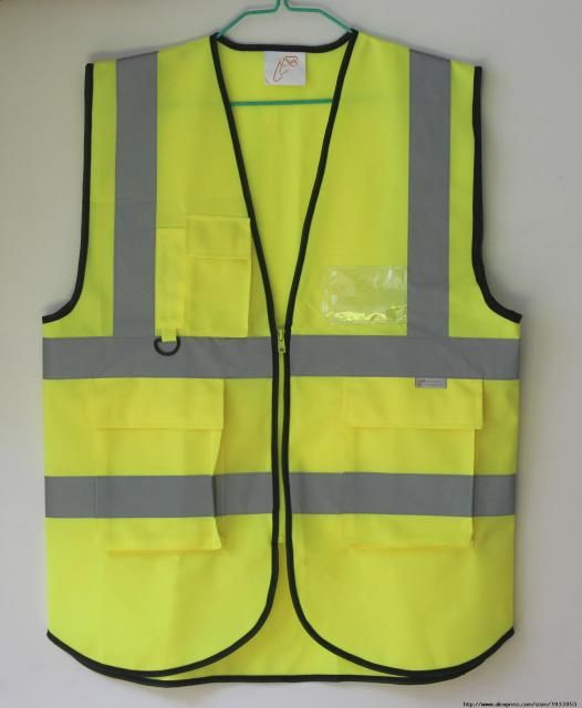 Reflective safety vest traffic safety warning