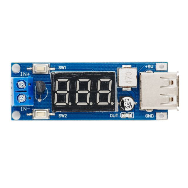 100pcs Step Down Module DC-DC Two-wire 5 V USB Charger Power Voltmeter Supply Input 4.5v-40v Output 5V/2A 40% off