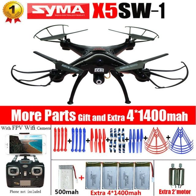 Original SYMA X5SC & X5SW WIFI RC Drones fpv Quadcopter with Camera Headless 2.4G 6Axis Real Time RC Helicopter Quad copter Toys