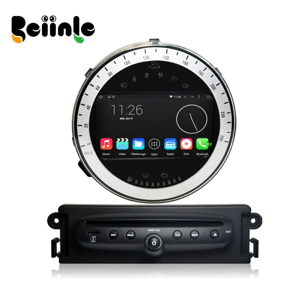 Beiinle 1024*600 16G  QUAD CORE Android Car 2 Din DVD GPS Radio Stereo Navi for Mini Cooper 2011-2013Year