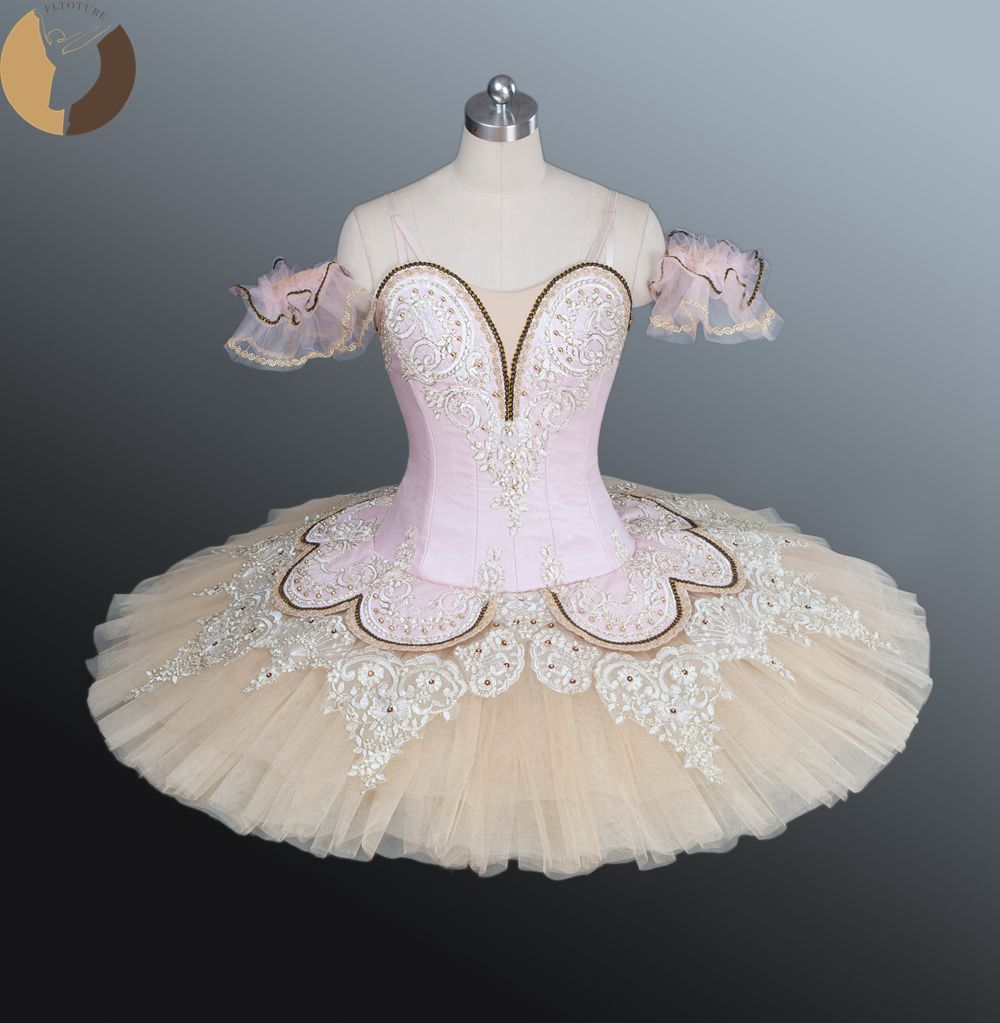 FLTOTURE Classical Ballet Tutu Women/Girls Professional Pancake Tutus Adult  Performance Dance Costumes Pink Tutu Skirt For Sale