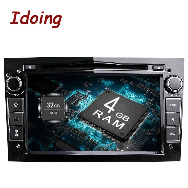 Idoing 2Din Radio Car DVD Multimedia Player Fit Opel Vectra Corsa D Astra H Steering-Wheel Android9.0 Audio touch Screen Video