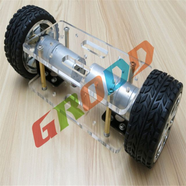 Self-balancing two-drive four-wheel drive model diy robot kit chassis frame two car toy car model making