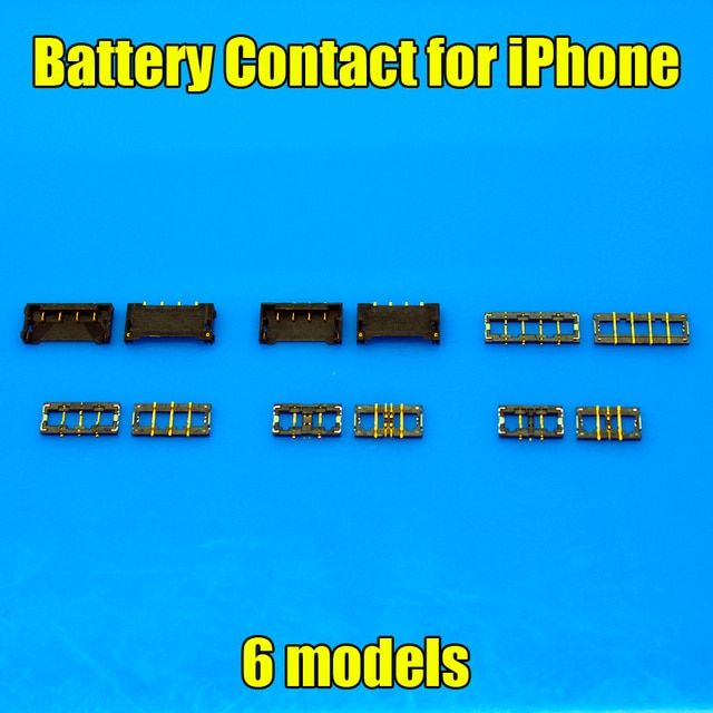 6 models New Inner FPC Connector Battery Holder Clip Contact replacement on motherboard for Iphone 4g 4s 5g 5s 6 5.5 4.7