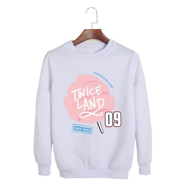TWICE concert twiceland official clothing female harajuku kawaii sweatshirt kpop kyliejenner moletom feminino