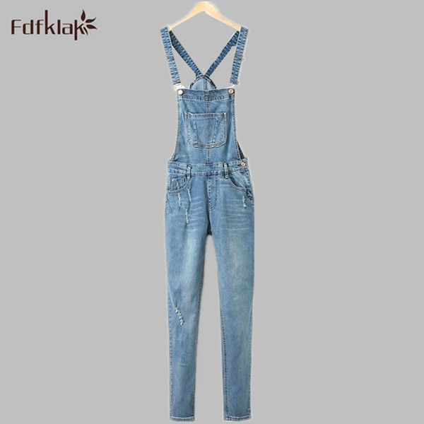 Summer Denim Jumpsuits And Rompers Womens Jean Overalls Playsuits Woman With Long Pant Off Shoulder Bodysuit Plus Size XL E0224