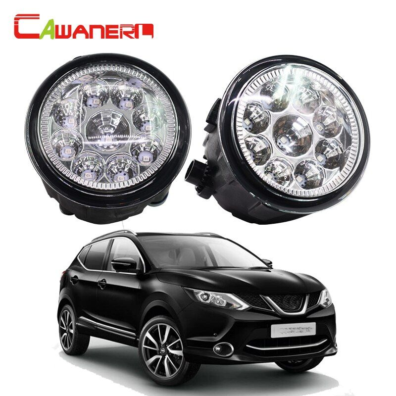Cawanerl 2 Pieces Car LED Light Fog Light DRL Daytime Running Light For Nissan Qashqai (J11, J11_) Closed Off-Road Vehicle 2013-