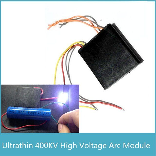 2pcs Super 2cm Voltage Arc 400KV High Voltage Generator, Square Ultrathin Pulse DC High Voltage Module