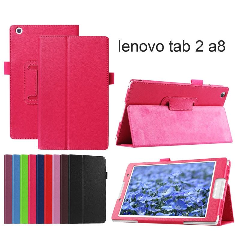 PU Leather cover case for lenovo tab2 A8 PU leather stand protective skin,tablet cover case for lenovo tab 2 A8-50 +fi;m+pen