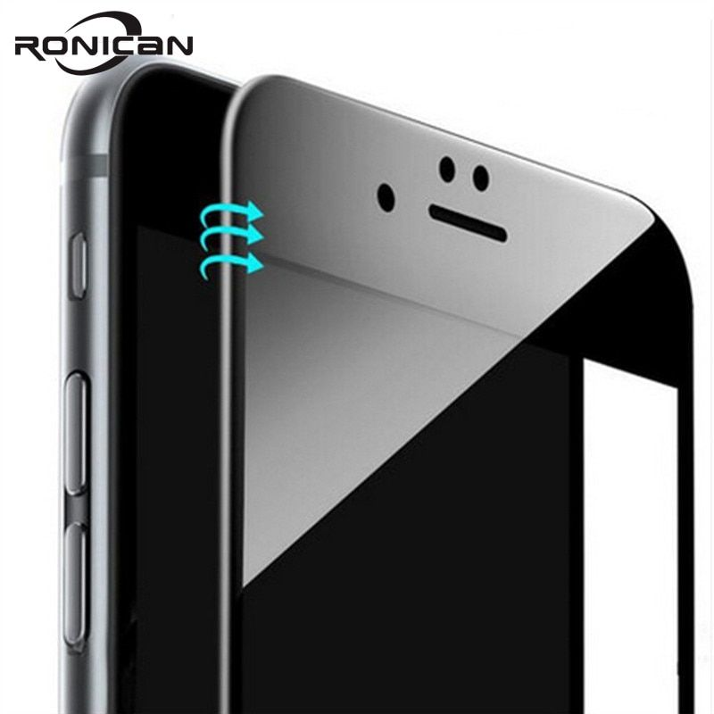 RONICAN For iphone 6 6s 3D Full Cover Tempered Glass on iPhone 7 8 Plus 3D Curved Edge Screen Protector Film For iPhone X XS MAX