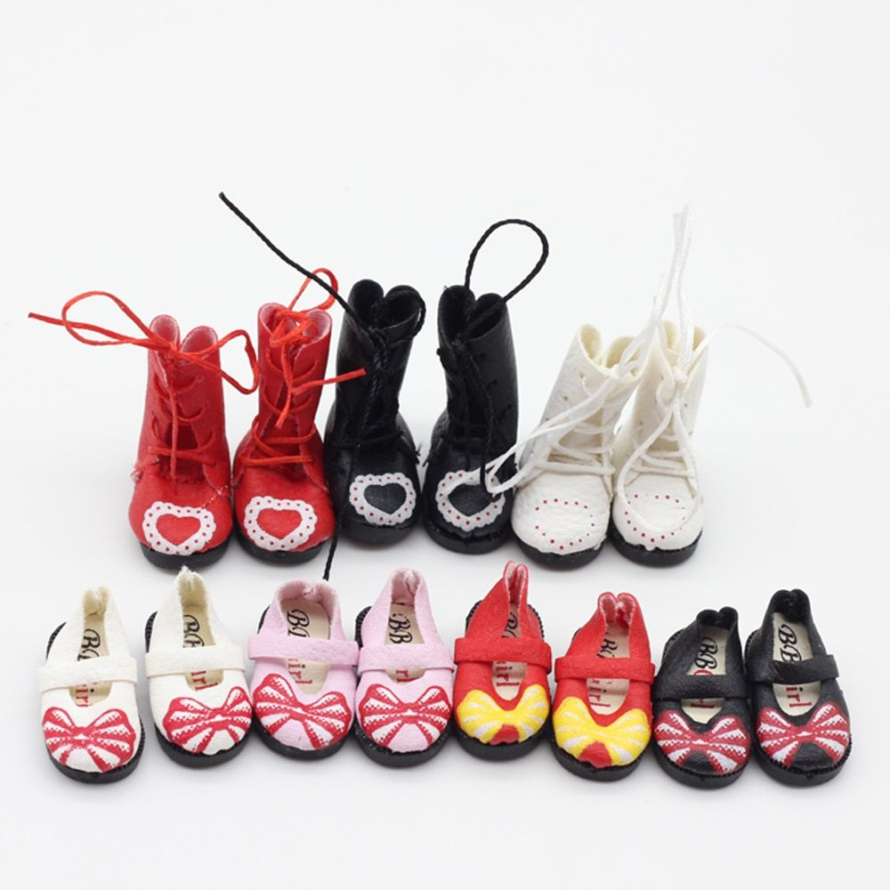 4color 1pair boots shoes for BJD blyth 1/8 1/6 doll Tang kou doll Pullip accessories 3.2cm et012