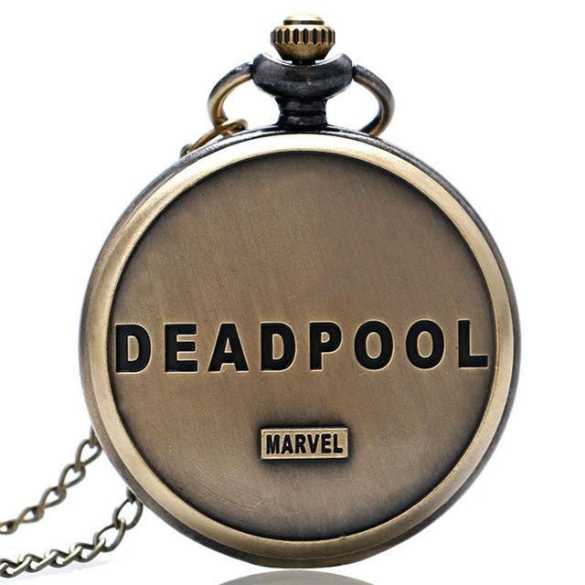 Fashion Deadpool Cosplay Anime Cartoon Pocket Watches for Kids Boys and Girls P342