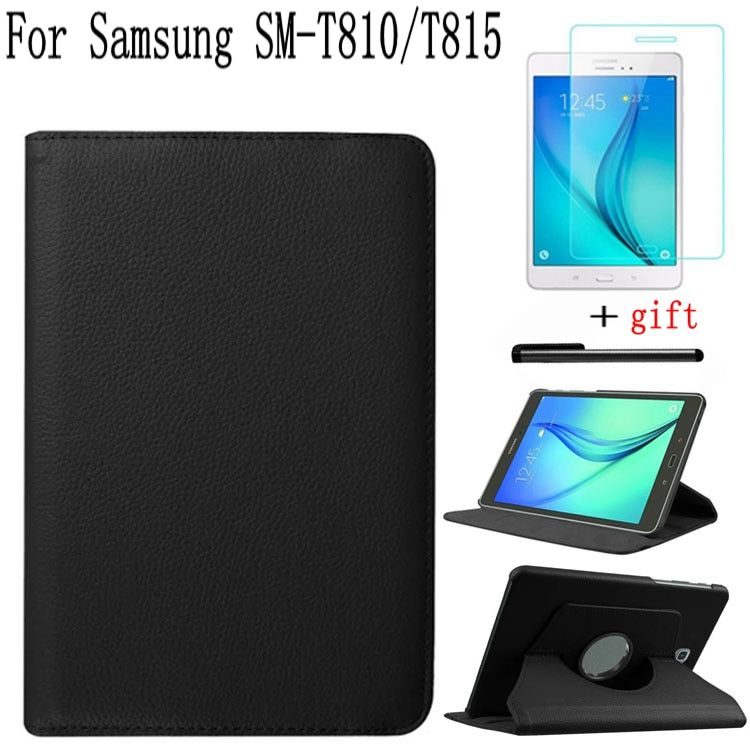 Stand Smart Leather Rotating Cover for Samsung Galaxy Tab S2 9.7 T810 T813 T815 T819 Tablet Case+Free Screen Protector+Pen