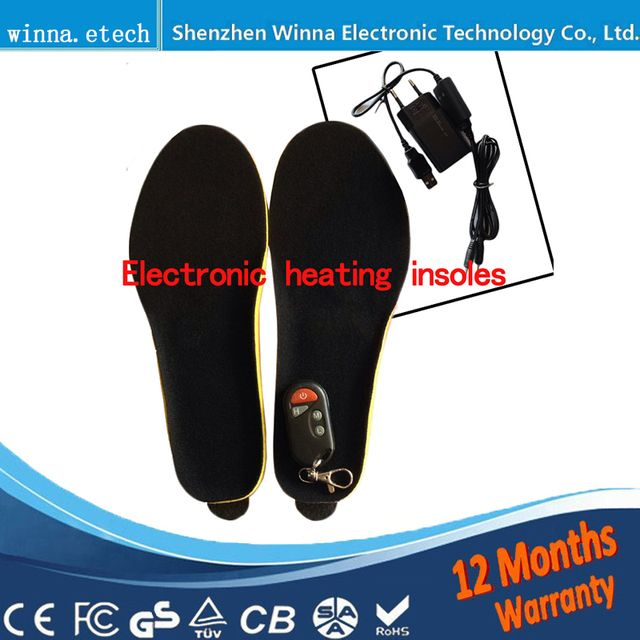 NEW Remote Control Battery  Heating Insoles men shoes insoles Thick insoles warm insole preheating insert shoes Accessories