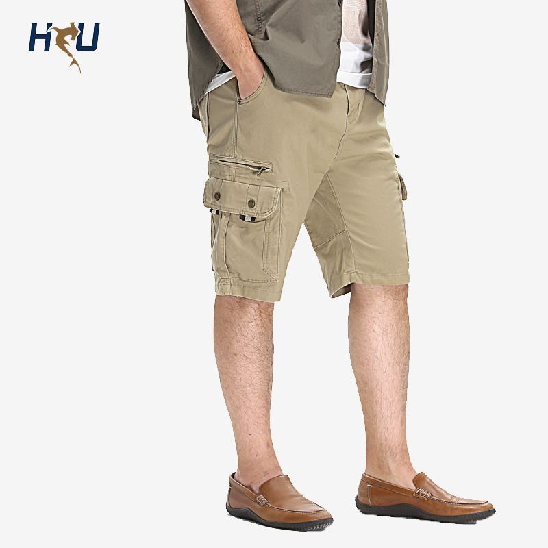 2016 Summer Brand Clothing Casual Man Shorts,97% Cotton Plus Size Mid Waist Shorts Man, Men Cargo Short Pants 38 40 42 44 46 48