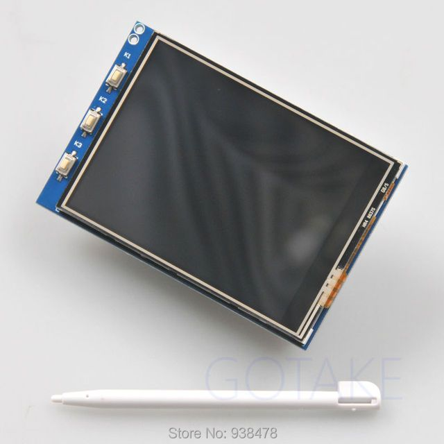 "3.2"" inch TFT LCD Touchscreen Display 320x240 SPI 4:3 Monitor Press Button Stylus For Raspberry Pi B B+ Raspbian"