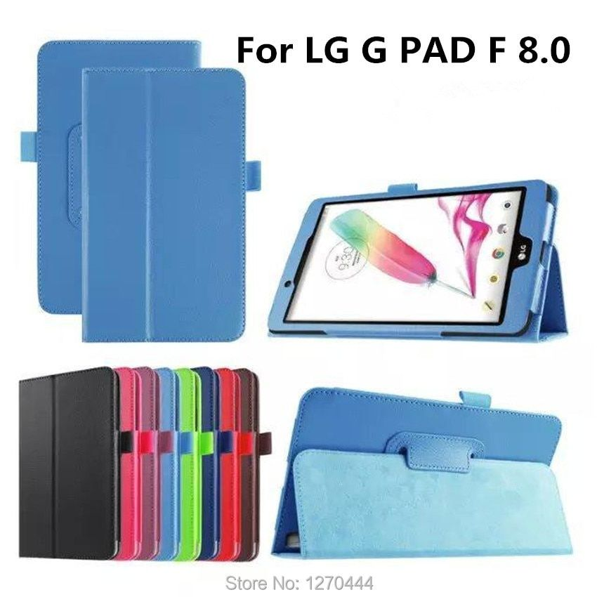 For LG G Pad F 8.0 PU leather stand protective skin Tablets & e-Books Case for LG G Pad F 8.0 V495 8 inch tablet PC+pen+OTG