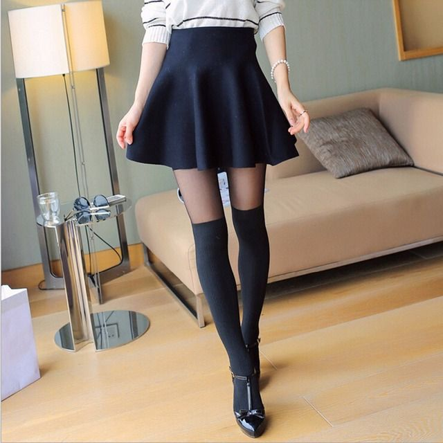 Fashion Winter Women Body Stovepipe Shaping Twisted False High Stocking PantyhoseHOT SALE