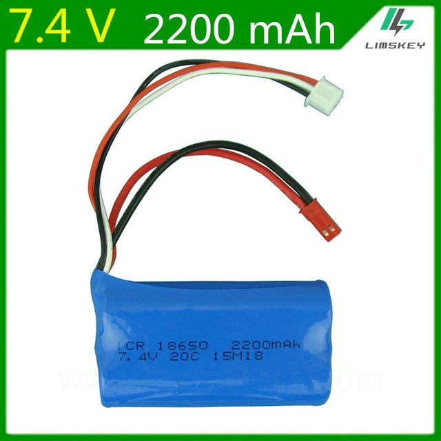7.4V 2200mAH 2s Batery  2S remote control helicopter 7.4V 2200mAH battery 20C 18650 Battery Toy 7.4v Battery