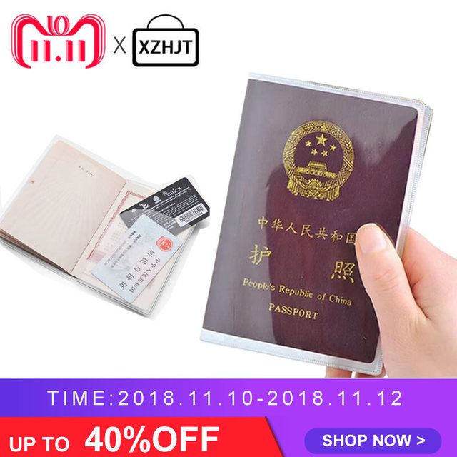 Grind Transparent Passport Cover Waterproof PVC Id Card Holders Passports Bag Protective Sleeve  9x 13CM