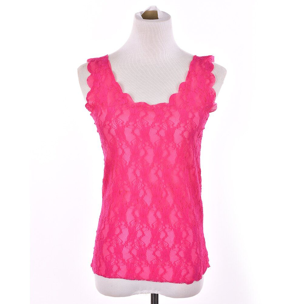 Women Sexy Lace Tank Tops Vest Causal Sleeveless Crochet Slim Vest Fitness Camisetas T Shirt Crop Top