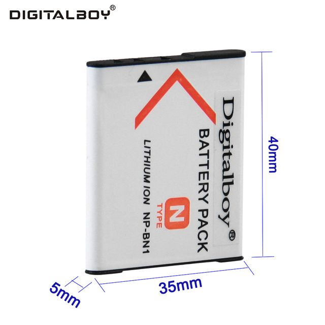 Digital Boy 1PCS NP-BN1 NP BN1 NPBN1 Rechargeable Digital Camera Battery For Sony Cyber-Shot DSC S750 DSC S780 W630 TX5 W310 T99