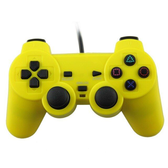 USB Wired PC Controller Double Vibration Gamepad Joypad Joystick For PC Computer Laptop Yellow