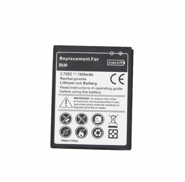 Ciszean 1x 1800mAh EB-F1A2GBU EBF1A2GBU Replacement Battery For Samsung galaxy S2 II I9100 GT-i9100 I9103 I9108 I9188 I9050 i777