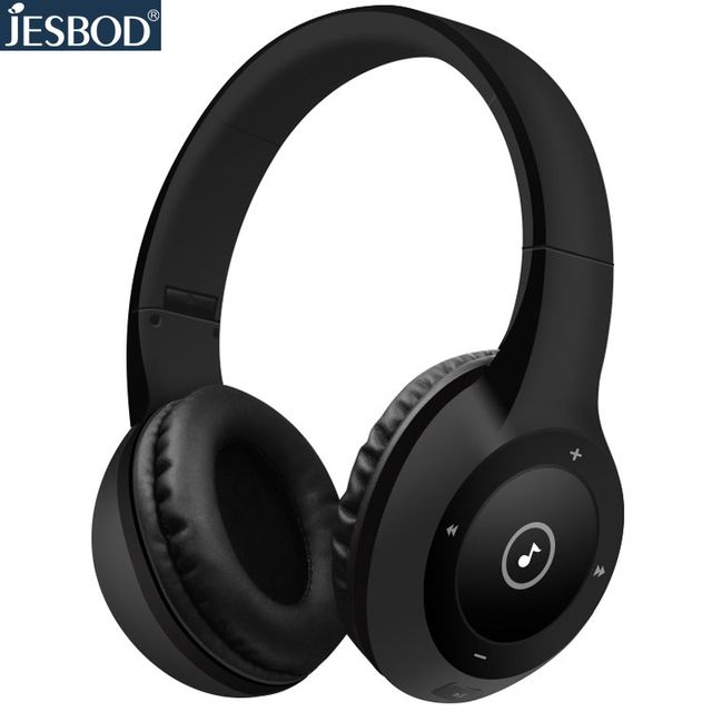40 hours palying time Jesbod J1 Bluetooth headphones wireless stereo headset with mic support TF card 3.5 AUX