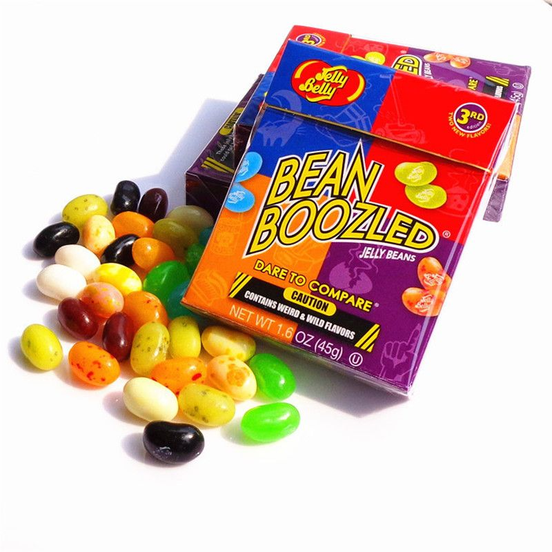 45 g of famous snacks sweet confection bean clams smell Harry Potter jelly beans candy bin Boozled Halloween gift box