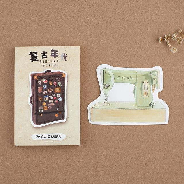 30Pcs/pack Retro years Telephone Sewmachine Greeting Card Postcard Birthday Letter Envelope Gift Card Set Message Card M0296