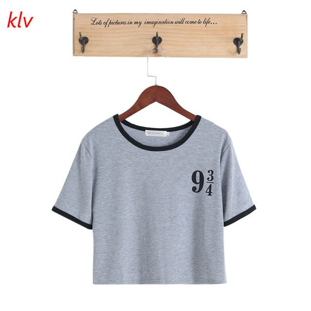 2017 harajuku Women T-shirt printing Platform female t shirt Cotton Digital printing stitching short sleeve T-shir