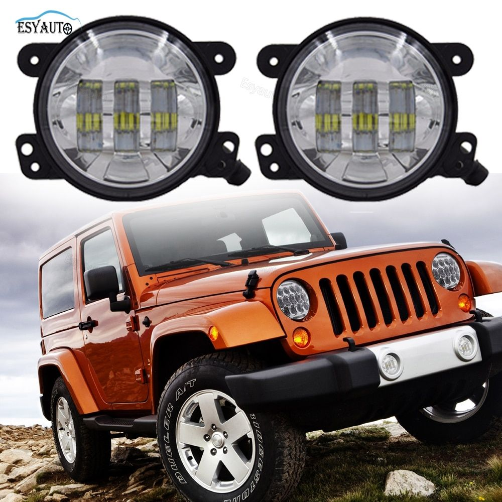 1 Pair 4 Inch 30W Front Bumper Led Auxiliary Fog Light LED Driving For Jeep Wrangler JK LJ