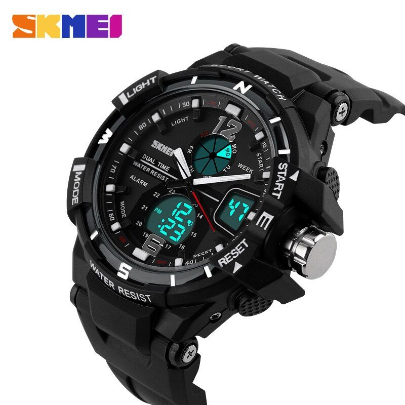 SKMEI Outdoor Sports Watches Men Quartz Digital Waterproof Military Watch Fashion Casual Multifunction Student Men Wristwatches