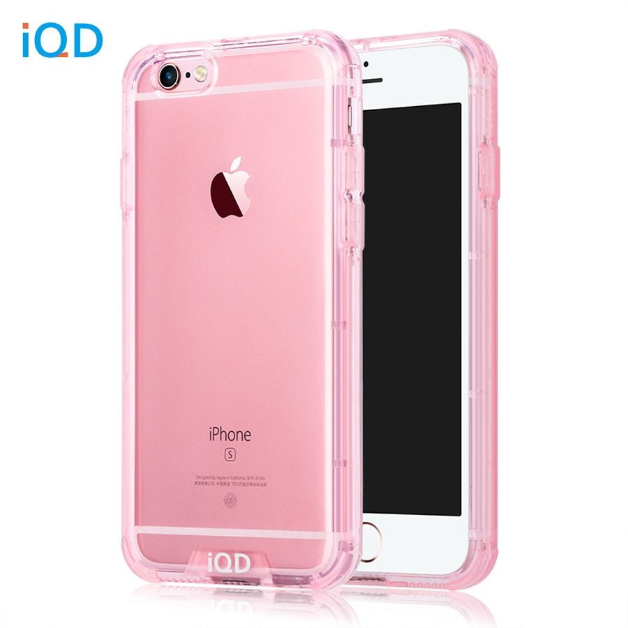 IQD For iPhone 6s Case Shockproof TPU Bumper Anti-Scratch Rigid Slim Protective Clear Back Cover for iPhone 6 6s Plus Cases