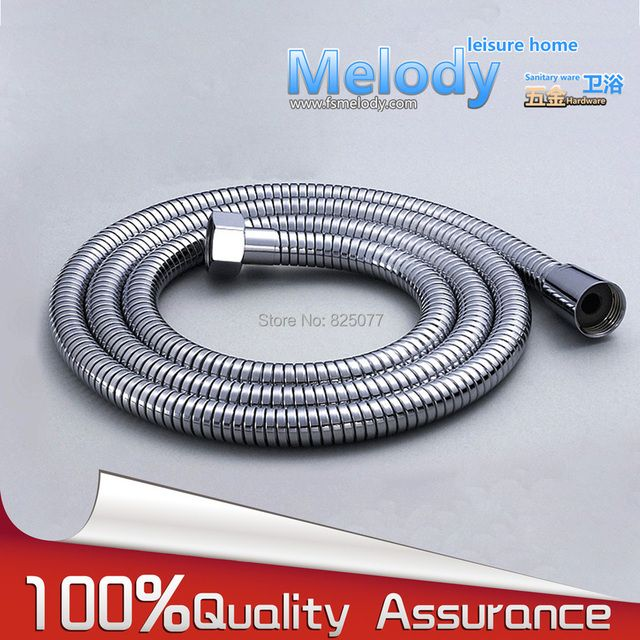 "Stainless Steel Braided Water Heater Connector Pipe Tube Flexible Shower Hose explosion-proof double buckle 1.5m(59"") HD13"