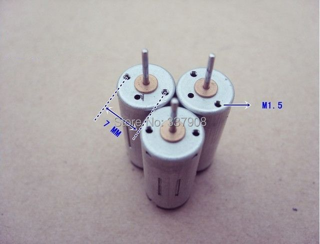 20PCS New 1025 cylindrical 3v/0.08A/17000RPM High Speed Micro DC Motor For Car Toy/Robot Test