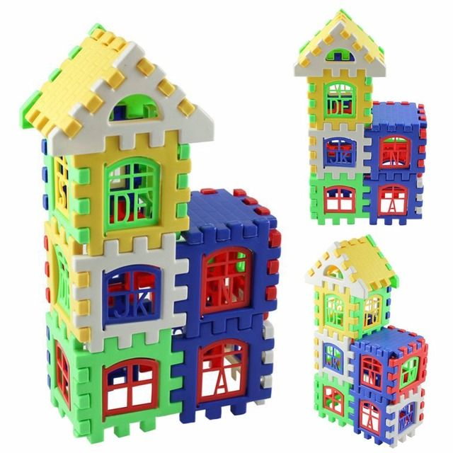 24 Pcs/Set Baby Kids House Building Blocks Educational Learning Construction Developmental Toy Set High Quality Brain Game Toy