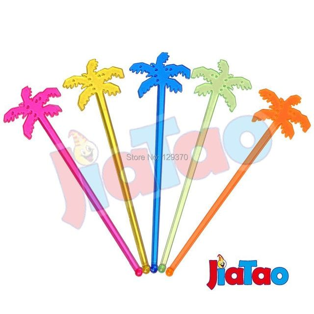 50PCS/LOT The Coconut Tree Cocktail Swizzle Sticks Drink Stirrer Coffee muddler puddler
