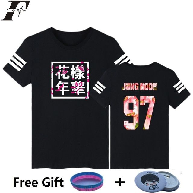 LUCKYFRIDAYF 3 color Kpop BTS Bangtan Boys JUNG KOOK JHOPE JIN  bts t-shirt Women tshirt tee shirt k-pop bts clothing