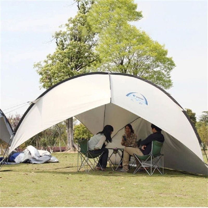UV Protect Gazebo Tent Large Beach Tent Waterproof Camping Tent Beach Umbrella Awning BBQ Sun Shelter Outdoor Sun Canopy