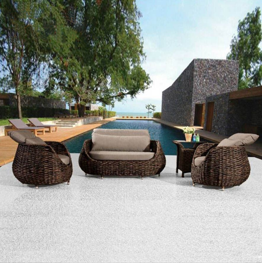 Webetop Outdoor Rattan Furniture Set Garden Furniture New Rattan Furniture Patio Furniture Lounge Tea Table Wicker Cushioned