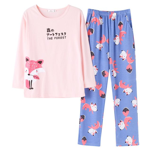 Pajamas sets Plus size pyjamas home clothes  nightwear  Sleepwear  Pajamas Women Female  Pajama Cotton Pajamas