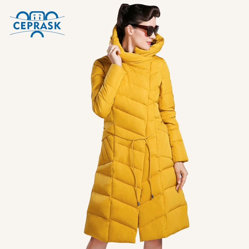 CEPRASK 2018 High Quality Winter Jacket Women Plus Size Long Fashionable Women's Winter Coat  Hooded Warm Down Jacket Parka