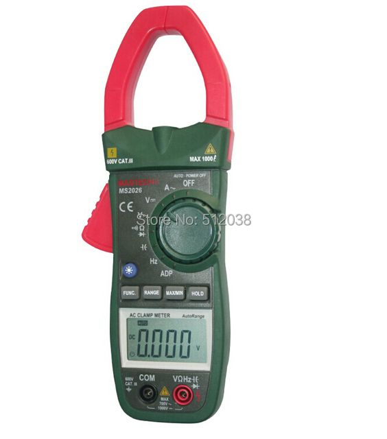MS2026 Auto-Range AC 1000A Clamp Meter